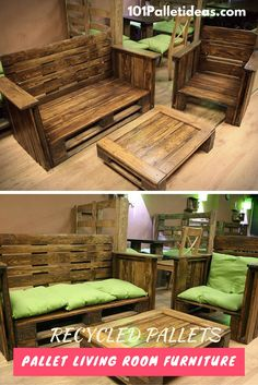 DIY #Pallet Living Room #Furniture Set | 101 Pallet Furniture