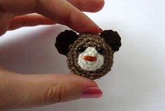 Bear brooch - free crochet pattern by Vedrana Cvijanovic