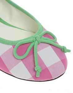 ASOS LUCY Gingham Bow Detail Ballet Flats-- soooo cuuuute.