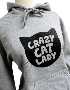 Yep, this sounds like someone we know.. Cat Sweater  Crazy Cat Lady Print on Hoodie by theboldbanana, $28.00