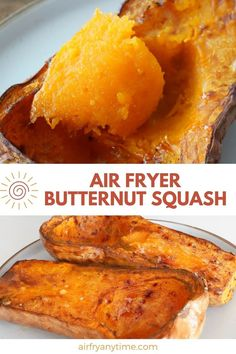 Air Fryer Butternut Squash, when cooked in halves, can be used for so many different dishes. It cooks quickly in the air fryer and comes out with a soft silky interior that's perfect for mashed butternut squash, or a filling for ravioli and pasta. Easy Vegetable Recipes, Vegetable Dishes, Easy Healthy Recipes, Air Fry Recipes, Side Dish Recipes, Mashed Butternut Squash, Best Side Dishes, Convenience Food, Stuffed Peppers