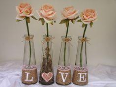 LOVE vasos de vidro