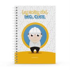 Cuaderno XL - Las notas del ingeniero civil, encuentra este producto en nuestra tienda online y personalízalo con un nombre. Notebook, Cute, Engineer, Notebooks, Report Cards, Day Planners, Kawaii, The Notebook, Exercise Book