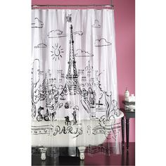 Pink Paris Curtains Decor For Mom Baby Pinterest Pink Paris Curtain Panels And Curtains