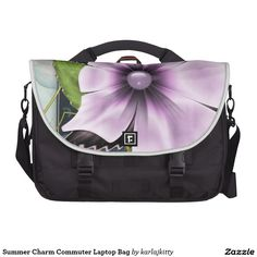Summer Charm Commuter Laptop Bag   More products with a similar design: http://www.zazzle.com/karlajkitty/summer%20%22charm%22?q=summer%20%22charm%22  romantic pretty lavender pink purple glow shine pearl marbled flower fractal floral bloom