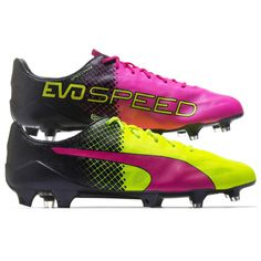 detailed pictures 4a793 95368 New  250 PUMA EvoSPEED SL II 2 Tricks FG Mens Soccer Cleats   Yellow   Pink  · Mens Soccer CleatsFootball ShoesFootball ...