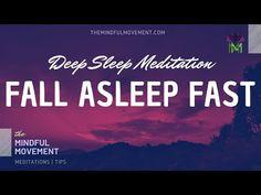 Fall Asleep Fast Deep Sleep Meditation for Insomnia / Mindful Movement - Modern Deep Sleep Meditation, Guided Mindfulness Meditation, Meditation Music, Chakra Meditation, How To Sleep Faster, How To Get Sleep, Spiritual Movies, Ways To Fall Asleep, Understanding Anxiety