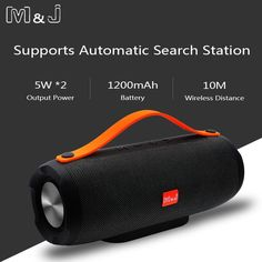 M&J Portable wireless Bluetooth Speaker Stereo big power system TF FM Radio Music Subwoofer Column Speakers for Computer - Elektronic Shack Mini Wireless Speaker, Bluetooth Speakers, Speakers For Sale, Best Speakers, Signal To Noise Ratio, Technology Support, All Smartphones, Boombox, Consumer Electronics