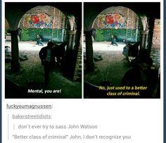 When John became Sherlock for the morning