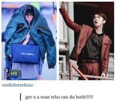 Sehun is a man who can do both!