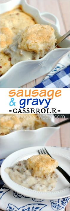 Sausage and Gravy Breakfast Casserole - Shugary Sweets