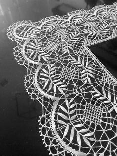 Marco Fersino Ribeiro Amorim Bobbin Lace, Black Silk, Floral, Design, Bobbin Lacemaking, Flowers, Flower