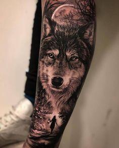 Artist (guest artist) Sponsors: # sanm … – Tattoos - Famous Last Words Wolf Tattoo Shoulder, Wolf Tattoo Forearm, Tribal Wolf Tattoo, Wolf Tattoos Men, Native Tattoos, Arm Tattoos For Guys, Animal Tattoos, Wolf Sleeve, Wolf Tattoo Sleeve