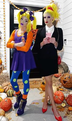 Joey Graceffa & Daniel Preda as Angelica and Charlotte Pickles from 'Rugrats' Badass Halloween Costumes, Celebrity Halloween Costumes, Halloween Party, Rugrats Costume, Angelica Pickles, Elle Woods, Joey Graceffa, Baby Shower Parties, Shower Party