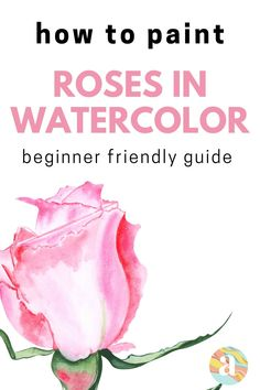 Learning how to paint flowers in watercolor is very fun and this is the step by step guide for you that will help you do just that. Tree Watercolor Painting, Watercolor Art Lessons, Watercolor Paintings For Beginners, Daisy Painting, Watercolor Rose, Painting Lessons, Watercolor Portraits, Watercolor Landscape, Watercolor Flowers Tutorial