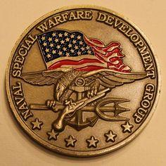 b205e246b08 Naval Special Warfare Development Group DEVGRU SEAL Team 6 Navy Challenge  Coin L