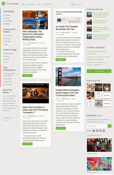 The Reader Responsive #WordPress Minimal New #Blog Template #webdesign