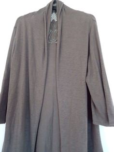 Womens Marks and Spencer Taupe Edge to Edge Open Cardigan Size 24