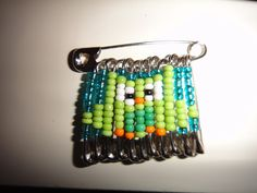 Owl beaded safety pin