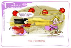 Pocket Princesses 179: Year of the Monkey Please reblog, do not repost or remove credits