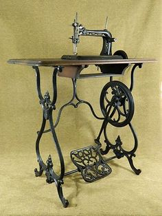Rare American Button Hole, Over-Seaming & Treadle Sewing Machine; Circa 1868-1874