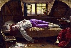 The Death of Chatterton, 1856 - Pre-Raphaelite painter Henry Wallis