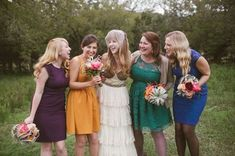 53 Awesome Jewel-Toned Bridesmaids' Dresses | HappyWedd.com