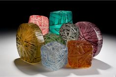 Cast Recycled Glass sculpture by Erwin Timmers