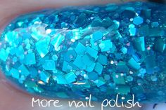 two coats of Hally's Comet, two of Lynnderella Thank Blue