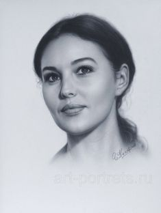 Portrait Monica Bellucci by Drawing-Portraits.deviantart.com on @deviantART