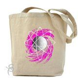 TeeShirtPalace Atomic Volleyball Swirl Tote Bag : Gifts Under 15