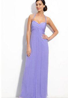 Pretty Chiffon Empire Halter Floor Length Prom Evening Dress - 1300258305B - US$94.49 - BellasDress
