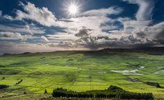 Açores - manta de retalhos na ilha Terceira (Portugal), Azores