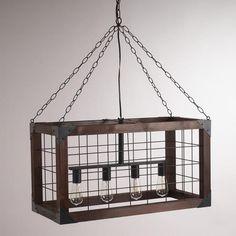 thats badass!    One of my favorite discoveries at WorldMarket.com: Rectangular Farmhouse Pendant Lamp