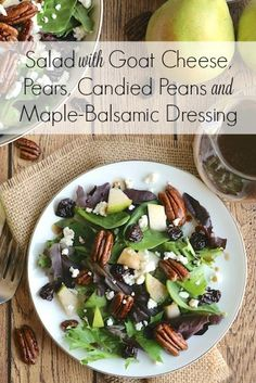 Love making this dressing.  Switch it up with raspberries and gorganzola or blue cheese crumbles!  So good!