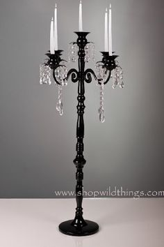 """Frances"" Large Black Tabletop Candelier Candelabra- 32"" Tall! by ShopWildThings, http://www.amazon.com/dp/B0058KF1II/ref=cm_sw_r_pi_dp_Oz--qb1WFZ0Z4"