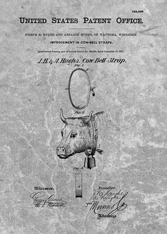1871 Cow Bell Patent