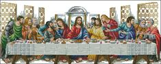 cross stitch. pattern maker scheme. Last supper.