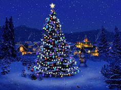 old fashioned christmas tree images - Yahoo Image Search Results Christmas Tree Wallpaper, Christmas Tree Images, Beautiful Christmas Trees, Christmas Scenes, Cozy Christmas, Christmas Tree Decorations, Christmas Lights, Christmas Cookies, Blue Christmas