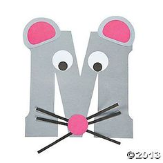 """M Is For Mice"" Letter M Craft Kit.this is so cute to do with every letter and then make a book out of them at the end of the alphabet accept lower case please we read in lower case so we teach in lower case Letter M Activities, Preschool Letter Crafts, Alphabet Letter Crafts, Abc Crafts, Preschool Projects, Alphabet Book, Classroom Crafts, Preschool Activities, Letter Art"