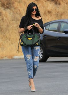 July 1: Kylie arriving at a bowling alley in Calabasas to film KUWTK