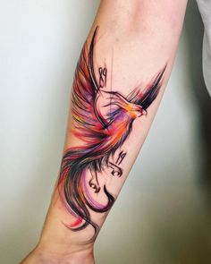 The tattooing world has very few favorites. Phoenix bird is one of them. Do you know where this interesting picture comes from? What is the symbolic significance of this awesome picture? Phoenix Bird Tattoos, Phoenix Tattoo Design, Rising Phoenix Tattoo, Body Art Tattoos, Small Tattoos, Sleeve Tattoos, Pretty Tattoos, Cool Tattoos, Tatoos