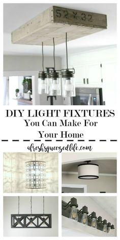 Farmhouse Diy, Kitchen Fixtures, Fixtures, Light Fixtures, Farmhouse Light Fixtures, Diy Light Fixtures, Diy Kitchen, Diy Lighting, Fixtures Diy