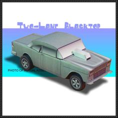 This paper car is a 1955 Chevrolet Bel Air, a full-size automobile produced by the Chevrolet, this paper model based on the 1971 road movie Two-Lane Blackt