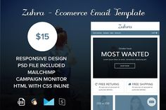 Zuhra - eComerce Email Template by Masketer on @creativemarket