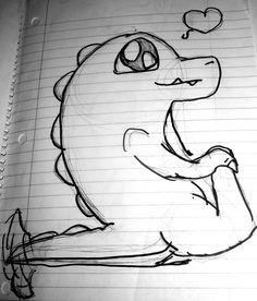 drawings boyfriend dinosaur google drawing easy beginners deviantart