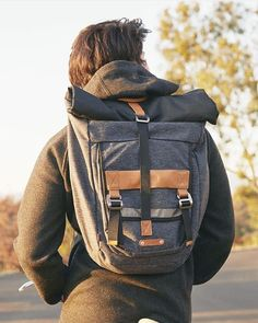 The @leviscommuter rolltop #backpack - features Cordura fabric for increased durability padded straps and back panel side-access laptop pocket built-in u-lock holder and reflective details for increased visibility - available > SUPEREIGHT.NET now! #levis #commuter #lifeinthecity #dailygrind #fixedgear