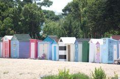 Cabines de plage à Saint Denis Ile d'Oléron - Toutes différentes en façade - Cabines de plage : vos meilleures photos