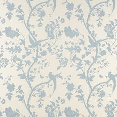 Laura Ashley Oriental Garden wallpaper duck egg - All About Laura Ashley Oriental Garden Duck Egg, Duck Egg Blue Bedroom, Living Room Duck Egg Blue, Duck Egg Blue Kitchen, Bird Bedroom, Master Bedroom, Garden Wallpaper, Bedroom Wallpaper, Kitchen Wallpaper