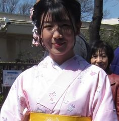 Japanese, in Kimono